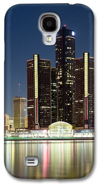 Renaissance Center Galaxy S4 Cases - Skyscrapers Lit Up At Dusk, Renaissance Galaxy S4 Case by Panoramic Images