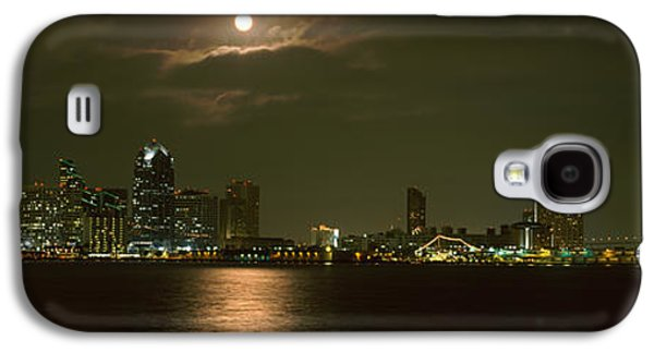 Sea Moon Full Moon Galaxy S4 Cases - Skyscrapers Lit Up At Night, Coronado Galaxy S4 Case by Panoramic Images