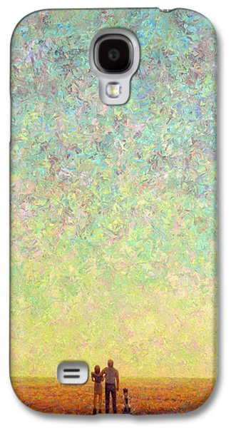 Sunset Abstract Galaxy S4 Cases - Skywatching in a Painting Galaxy S4 Case by James W Johnson