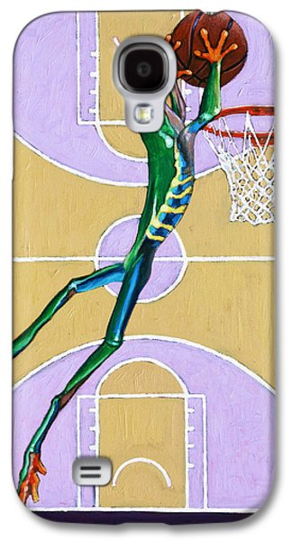 Dunk Paintings Galaxy S4 Cases - Slam Dunk Galaxy S4 Case by John Lautermilch