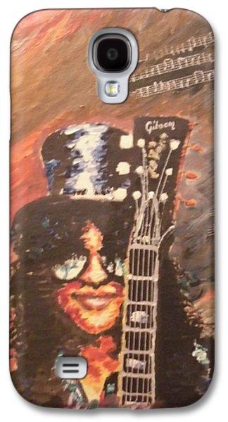 Slash Paintings Galaxy S4 Cases - Slash - Guns NRoses Galaxy S4 Case by Corina M