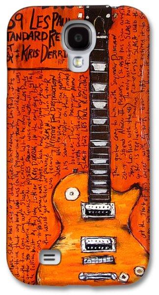 Slash Paintings Galaxy S4 Cases - Slash Les Paul Replica Galaxy S4 Case by Karl Haglund
