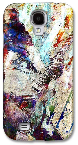 Axl Rose Paintings Galaxy S4 Cases - Slash Original  Galaxy S4 Case by Ryan Rock Artist