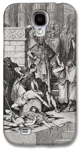 Punishment Galaxy S4 Cases - Slaughter of the Sons of Zedekiah before their Father Galaxy S4 Case by Gustave Dore