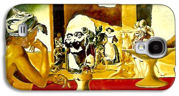 Slaves Galaxy S4 Cases - Slave Market with the Invisible Bust of Voltaire Galaxy S4 Case by Henryk Gorecki