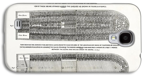 Slave Ship Middle Passage Stowage Diagram  1788 Galaxy S4 Case by Daniel Hagerman