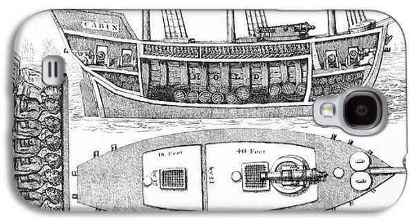 Slaves Galaxy S4 Cases - Slave Ship Plan Showing Slaves In Hold Galaxy S4 Case by British Library