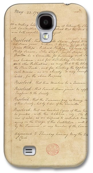 Slave Trade Abolition Committee Galaxy S4 Case by British Library