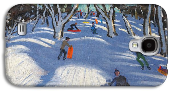 Slush Galaxy S4 Cases - Sledging at Ladmanlow Galaxy S4 Case by Andrew Macara