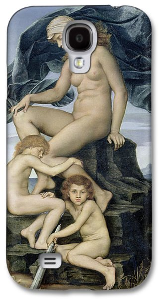 Posters Of Nudes Galaxy S4 Cases - Sleep and Death the Children of the Night Galaxy S4 Case by Evelyn De Morgan