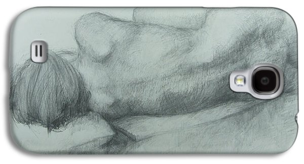 Lounge Drawings Galaxy S4 Cases - Sleep Galaxy S4 Case by Cynthia Harvey