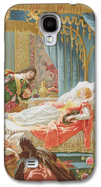 Saviour Drawings Galaxy S4 Cases - Sleeping Beauty and Prince Charming Galaxy S4 Case by Frederic Lix