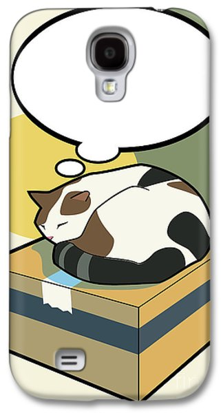 Domestic Digital Art Galaxy S4 Cases - Sleeping Cat 2 Galaxy S4 Case by Sycen Liong