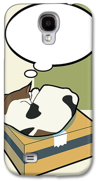 Domestic Digital Art Galaxy S4 Cases - Sleeping Cat 4 Galaxy S4 Case by Sycen Liong