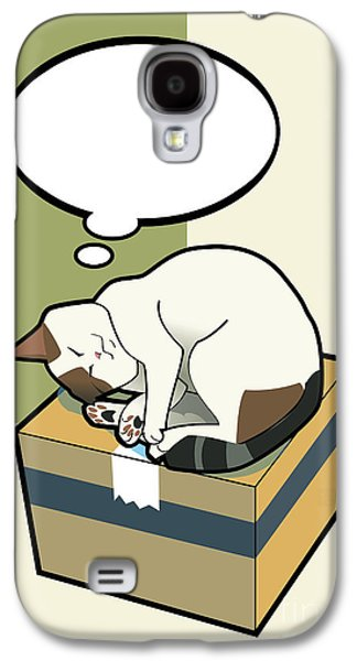 Domestic Digital Art Galaxy S4 Cases - Sleeping Cat 5 Galaxy S4 Case by Sycen Liong
