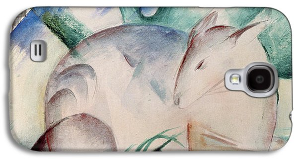 Expressionism Galaxy S4 Cases - Sleeping Deer Wc Galaxy S4 Case by Franz Marc