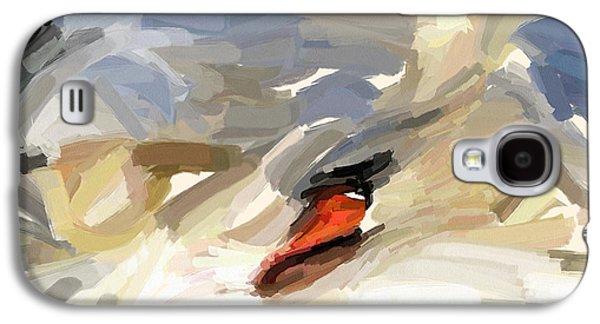 House Pet Digital Art Galaxy S4 Cases - Sleeping Swan Galaxy S4 Case by Yury Malkov
