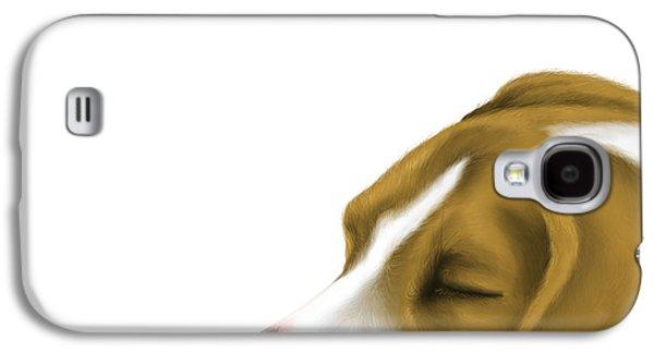 Dogs Digital Galaxy S4 Cases - Sleeping Galaxy S4 Case by Veronica Minozzi