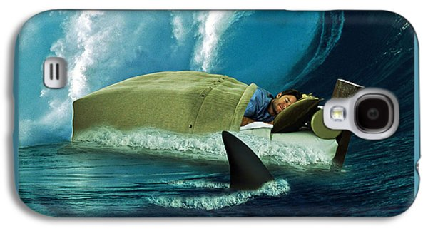 Digital Collage Galaxy S4 Cases - Sleeping with Sharks Galaxy S4 Case by Marian Voicu