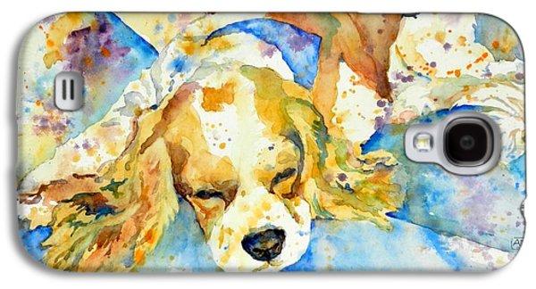 Sleeping Dog Galaxy S4 Cases - Sleepy Dog Galaxy S4 Case by Andrea Merican