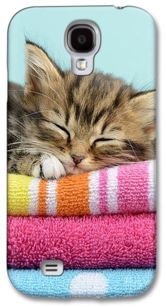 Greg Cuddiford Digital Art Galaxy S4 Cases - Sleepy Kitten Galaxy S4 Case by Greg Cuddiford