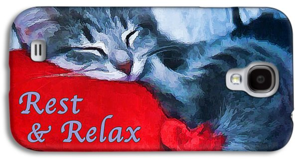 Photo Manipulation Galaxy S4 Cases - Sleepy Kitten - Rest Galaxy S4 Case by Bill Caldwell -        ABeautifulSky Photography