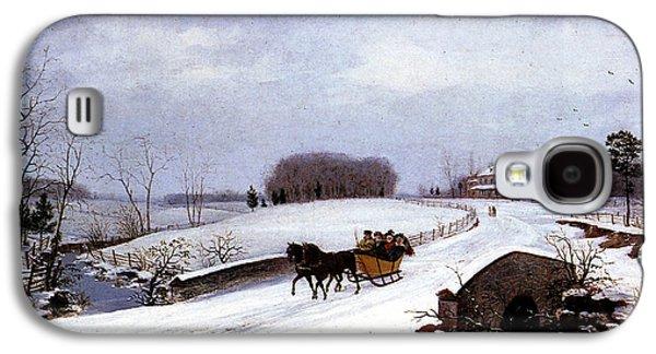 Winter Wonderland Galaxy S4 Cases - Sleigh in Winter Galaxy S4 Case by Thomas Birch
