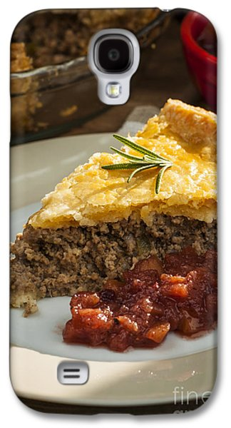 Quebec Galaxy S4 Cases - Slice of Tourtiere meat pie  Galaxy S4 Case by Elena Elisseeva