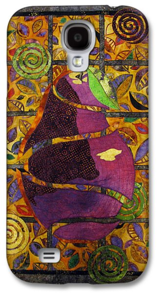 Nature Abstract Tapestries - Textiles Galaxy S4 Cases - Sliced Pear Galaxy S4 Case by Lynda K Boardman