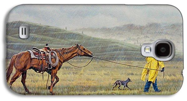 Rain Paintings Galaxy S4 Cases - Slicker Weather Galaxy S4 Case by Paul Krapf
