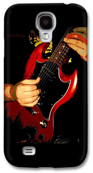 Landmarks Photographs Galaxy S4 Cases - Red Gibson Guitar Galaxy S4 Case by Chris Berry