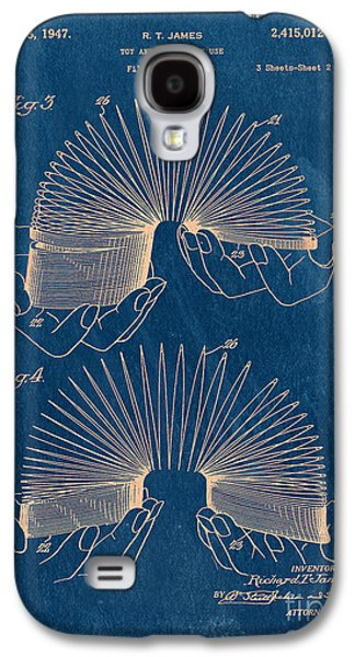Bryant Drawings Galaxy S4 Cases - Slinky Toy Blueprint Galaxy S4 Case by Edward Fielding