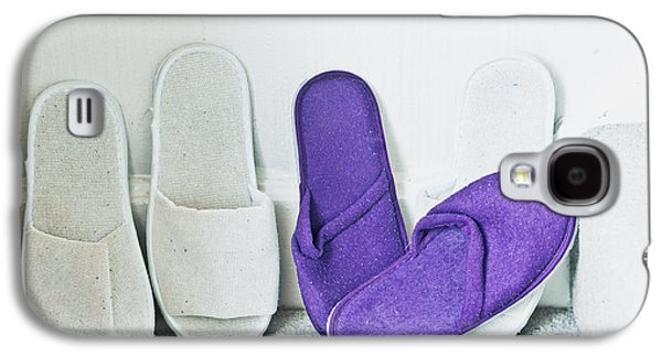 """indoor"" Still Life Photographs Galaxy S4 Cases - Slippers Galaxy S4 Case by Tom Gowanlock"