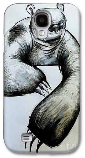 Sloth Drawings Galaxy S4 Cases - Sloth Galaxy S4 Case by Angel  Mey
