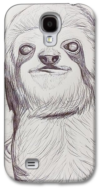 Sloth Drawings Galaxy S4 Cases - Sloth sketch Galaxy S4 Case by Ashley Adams