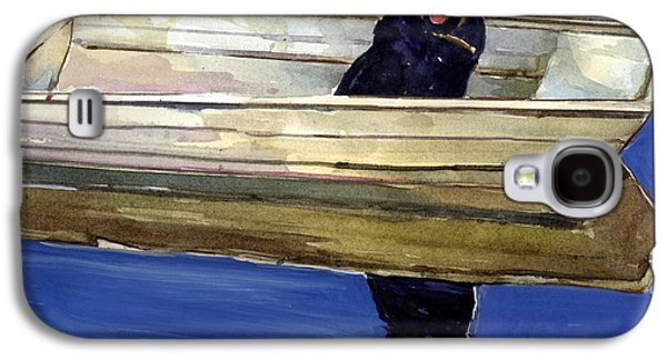 Boats In Water Paintings Galaxy S4 Cases - Slow Boat Galaxy S4 Case by Molly Poole