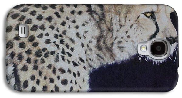 Cheetah Drawings Galaxy S4 Cases - Slow Cheetah Galaxy S4 Case by Jamie Holland Cummins
