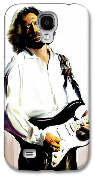 Collection Galaxy S4 Cases - Slow Hand  Eric Clapton Galaxy S4 Case by Iconic Images Art Gallery David Pucciarelli