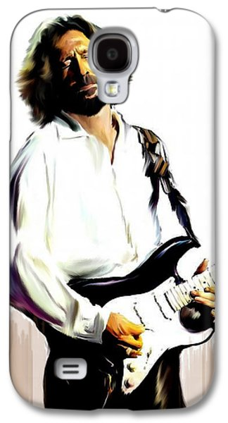 Slow Hand  Eric Clapton Galaxy S4 Case by Iconic Images Art Gallery David Pucciarelli