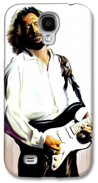 Rocks Drawings Galaxy S4 Cases - Slow Hand VI  Eric Clapton Galaxy S4 Case by Iconic Images Art Gallery David Pucciarelli