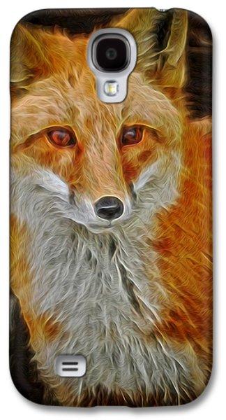 Fox Digital Galaxy S4 Cases - Sly Fox 2 Galaxy S4 Case by Ernie Echols