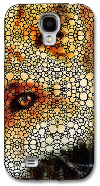 Hanging Galaxy S4 Cases - Sly Fox - Mosaic Art By Sharon Cummings Galaxy S4 Case by Sharon Cummings