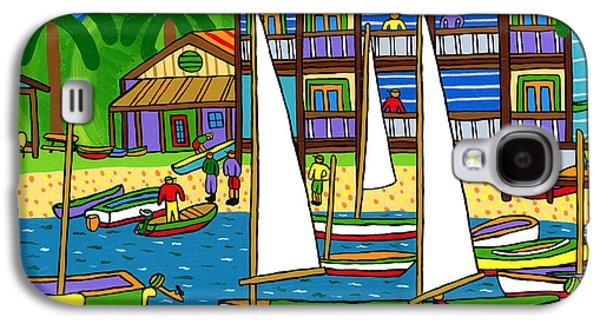 Cedar Key Galaxy S4 Cases - Small Boat Regatta - Cedar Key Galaxy S4 Case by Mike Segal
