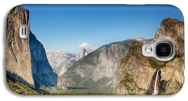 Snow Capped Galaxy S4 Cases - Small clouds over the Half Dome Galaxy S4 Case by Jane Rix