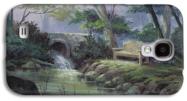 Waterfalls Paintings Galaxy S4 Cases - Small Falls Descanso Galaxy S4 Case by Michael Humphries