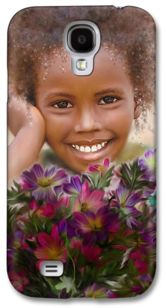 African-american Galaxy S4 Cases - Smile 2 Galaxy S4 Case by Kume Bryant