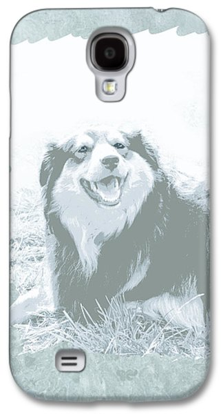 Dogs Digital Art Galaxy S4 Cases - Smile Galaxy S4 Case by Ann Powell