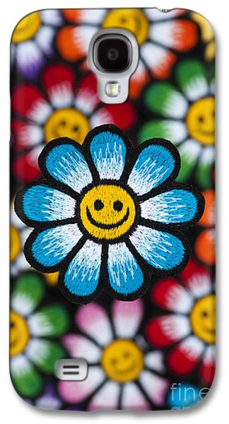 Psychedelic Photographs Galaxy S4 Cases - Smile Flowers Galaxy S4 Case by Tim Gainey
