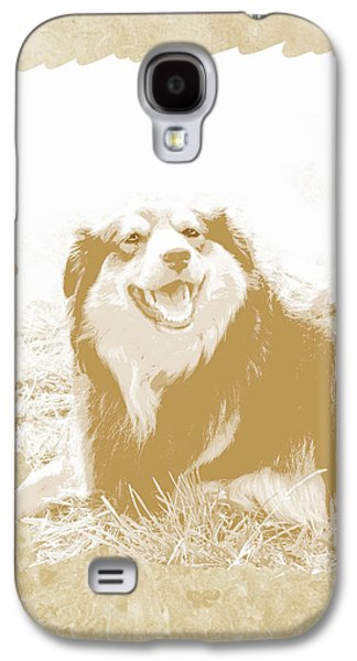 Dogs Digital Art Galaxy S4 Cases - Smile II Galaxy S4 Case by Ann Powell