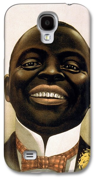 Person Drawings Galaxy S4 Cases - Smiling African American circa 1900 Galaxy S4 Case by Aged Pixel